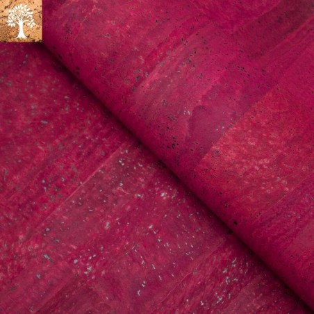 Tissu en Liège - Rouge Bordeaux
