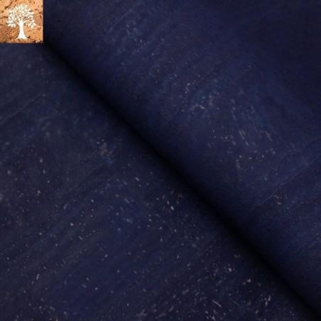 Tissu en Liège - Bleu Marine