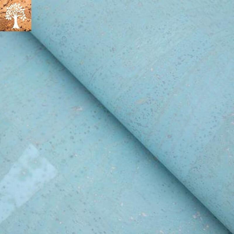Tissu en Liège - Bleu Ciel