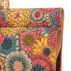 Tissu en Liège - Fleur Vintage
