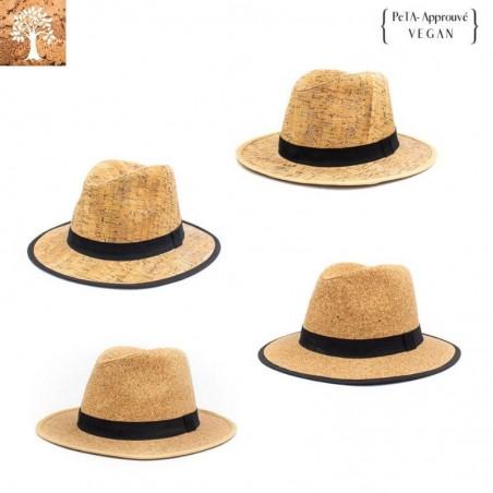 Chapeau Fedora en liège