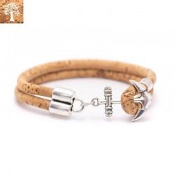 Bracelet Ancre en Liege